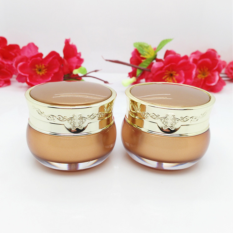 Capacity 50g 50pcs/lot Golden Butterfly Acrylic Cream Jar,wholsale cosmetic bottles, cream jar plastic cream points bottling
