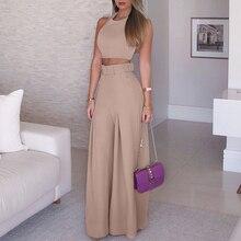 Women 2019 Fashion Elegant Formal Office Sleeveless Casual Suit Sets