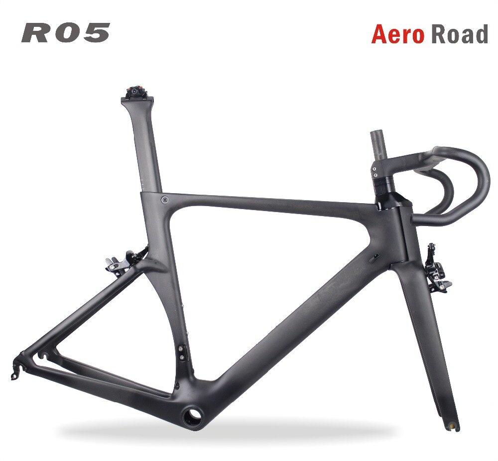 2018 MIRACLE New Aero 700x25C Carbon Road Bike Frame Di2&mechanical Road Bike Carbon Frameset Integrated BB86 Carbon Road Bike