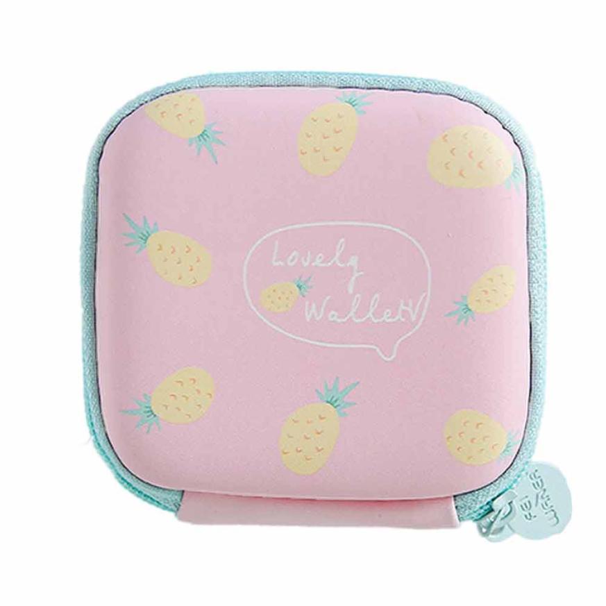 wallet women 2018 Fashion Cute Portable Mini Round Storage Case Bag for Earphone Headphone Cards Storage Girls Coin Purse Bag A8