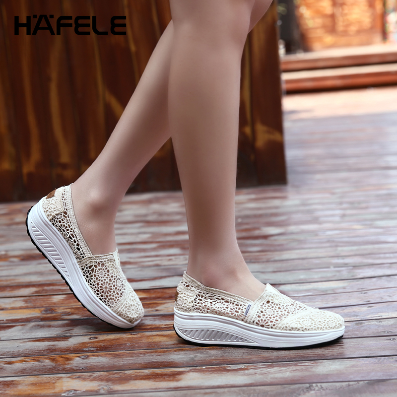 Shaker-Shoes Slip-On-Sneakers Lace Breathable Flower Essential Mesh-Surface Ultra-Light