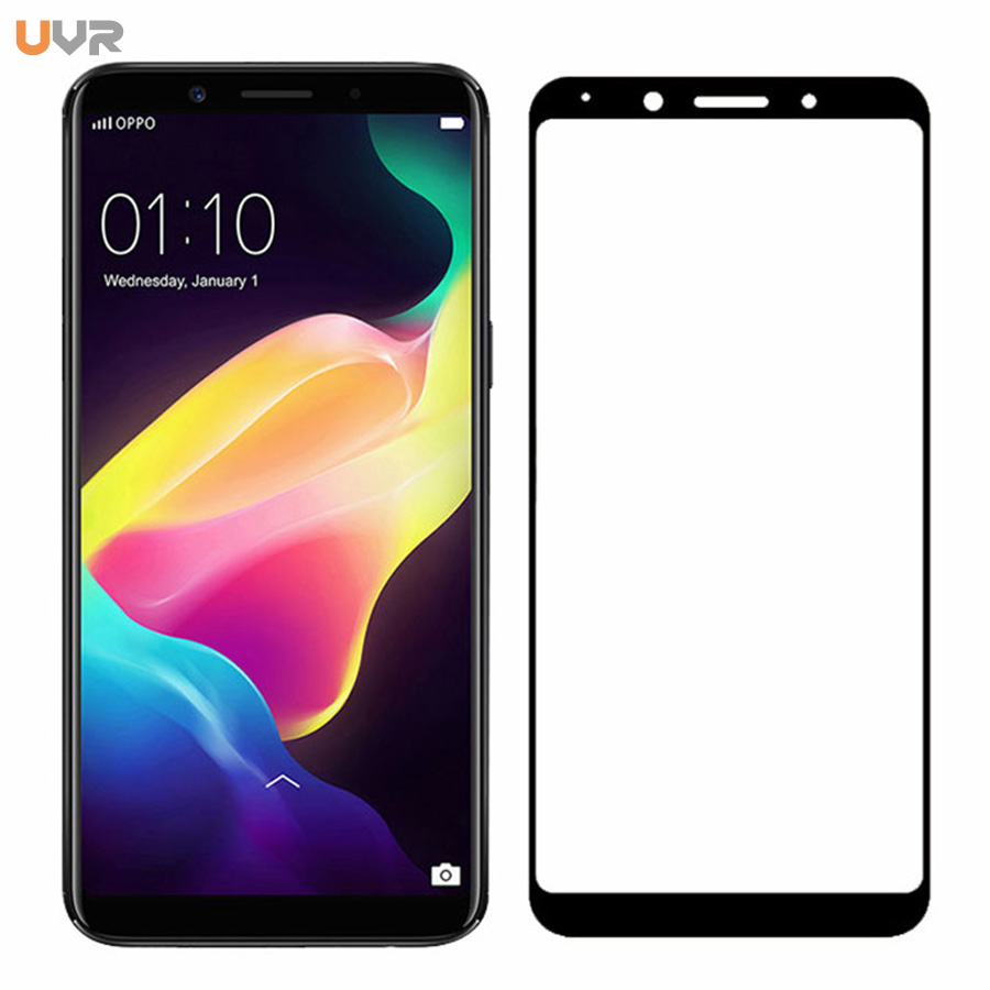 UVR Tempered Glass For OPPO F5 Full Cover 9H Protective Film 0.26mm Explosion-proof Screen Protector For OPPO F5 Glass