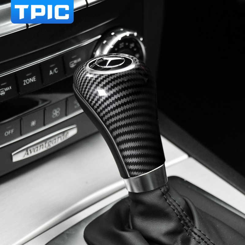 Dla mercedesa w204 w212 modyfikacja samochodu ABS pokrowiec dźwigni zmiany biegów naklejki i kalkomanie samochodu stylizacja dla C E A G klasa CLS akcesoria