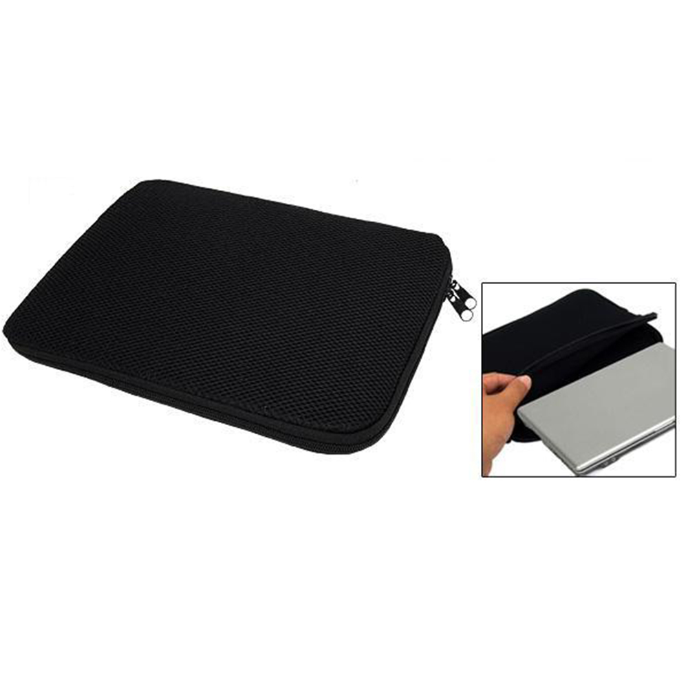 Zwart Soft Laptop Sleeve Notebook Tas Tas pouch cover Voor 10.1 12 13 14 15.6 17.3 inch HP Dell Acer Lenovo Toshiba Macbook