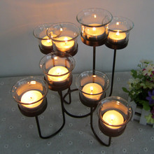Metal Tealight Candle Holders Tabletop Decorative Candlestick Holder Home Wedding Accessories Decoration Candle Romantic Dinner