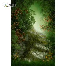 Laeacco Dreamy Green Tree Vine Flower Backdrop Baby Photography Backgrounds Customized Photographic Backdrops For Photo Studio