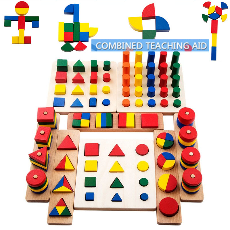 2017 Top Brand Children Toy 8 Ways Playing Baby Wooden Building Block Early Educational Toys Intellectual Geometry Happy Toy hot sale intellectual geometry toys for children montessori early educational building wooden block interesting kids toys