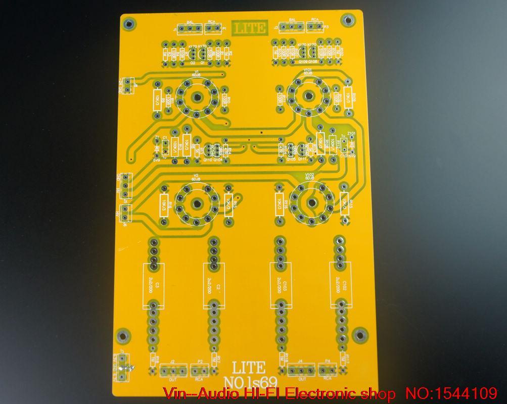 1 pièces VIN LS69 tube entièrement équilibré préamplificateur PCB plaque vide 6922x4 livraison gratuite