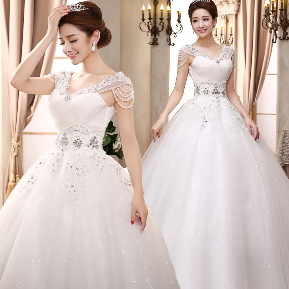 Stunning Wedding Dress: Real Made New Strapless Appliques Ball Gown Wedding