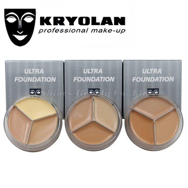 Kryolan 3 color Make-up  Concealer Paleta De Corretivo Foundation  Contour Palete Water-proof Make-up Foundation Oil-control