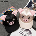 2016 moda hip hop snapback caps para mujeres niñas cerdo ovejas Patrón de la cara de Dibujos Animados Sol Tapa Ocasional Hiphip Sombreros Chapeu Beisbol RZ82