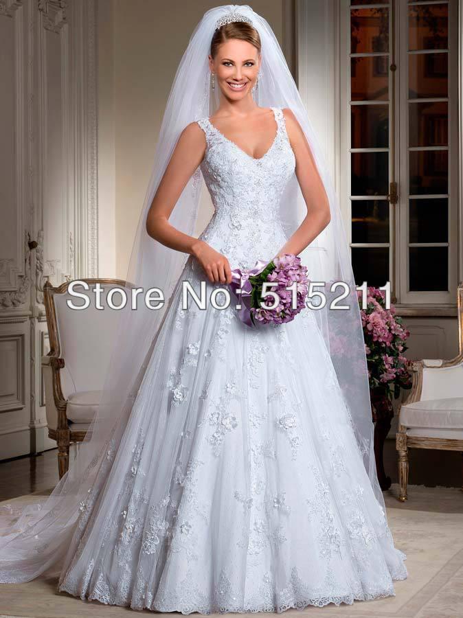 Top selling sexy v neckline keyhole back wedding dresses for Best selling wedding dresses