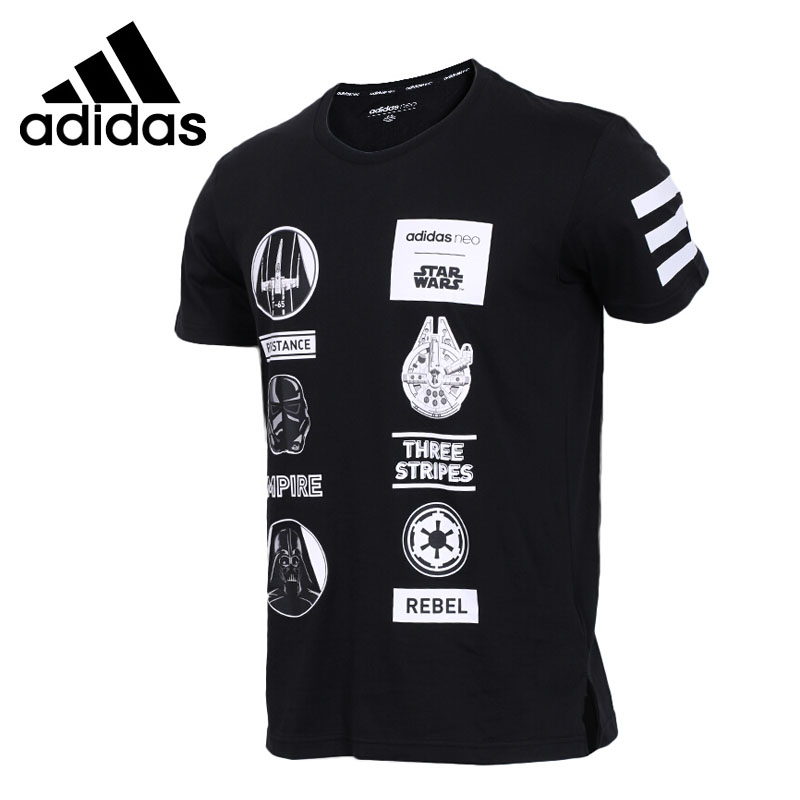 Original New Arrival 2018 Adidas NEO Label SW TEE 4 Men's T-shirts short sleeve Sportswear contrast raglan sleeve high low curved hem tee page 4