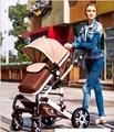 Hot Marca New Bekerhouder Carrinho de Bebé Carrinho de Bebê Leve Carrinho de Bebê Carrinhos De Bebé 3 Em 1 Guarda-chuva Dobrável Carrinho de Criança de Amor