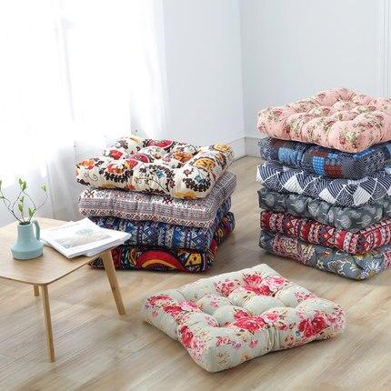 Le coton et le lin ont augmenté les coussins de siège plus épais