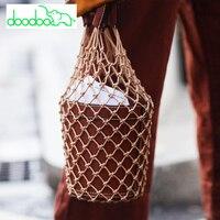Beach Bag Fashion Women Bucket Tote Bag Lady Top Handle Handbags Vintage Beautiful Girl Holiday Bag Leather Composite Bag Bolsas