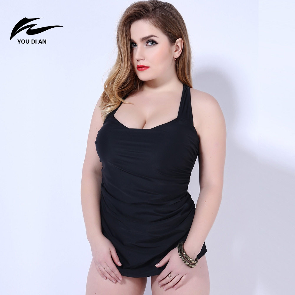 ФОТО Fat Women One Piece Suits Big Size Swimsuit Sexy Gather Slim Thin 3XL-5XL Ladies Swimwears Beach Bathing Wear YOUDIAN