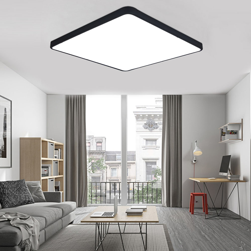 Ultra thin Modern LED ceiling light Round simple decoration fixtures ...