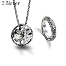 3UMeter 2019 New 925 Silver Astronomical Ball Ring for Lovers Germany Vintage Creative Love Couple Gift Drop Shipping