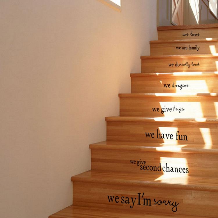 vida de la belleza sin vida impecable house rules familia palabra romntico pegatinas de pared escaleras casa casa oficina arte