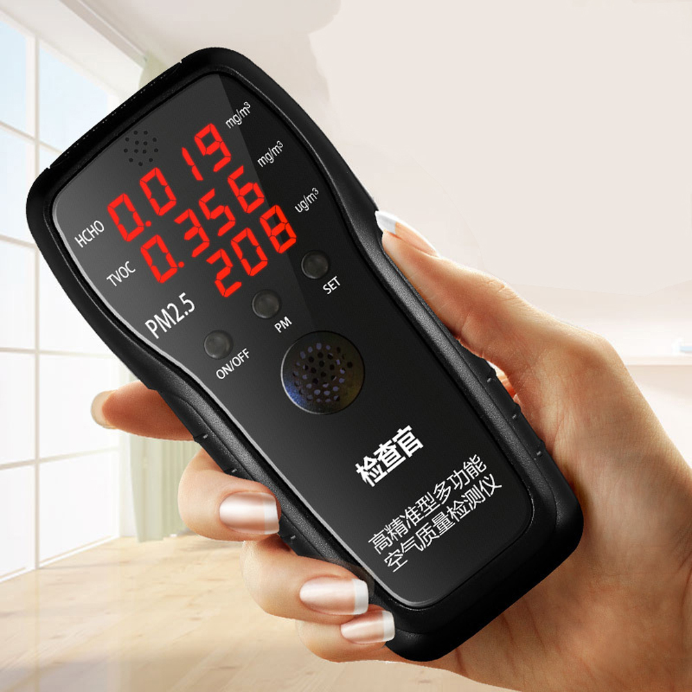 Multifunctional Accurate Air Quality Detector HCHO TVOC PM2.5 Tester with Laser Sensor