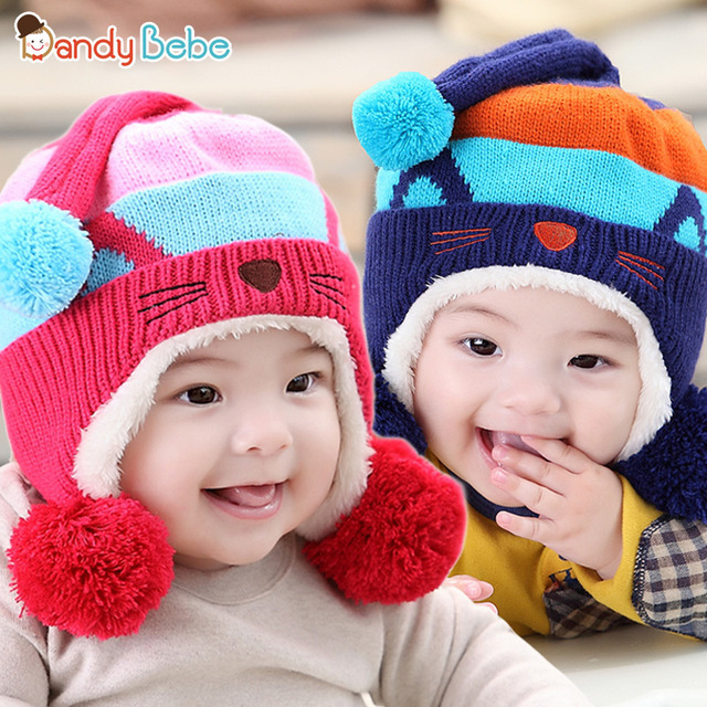 7d177cda1 Korean Fashion Baby Girl s Cute Cat Autumn and Winter Hats Children ...