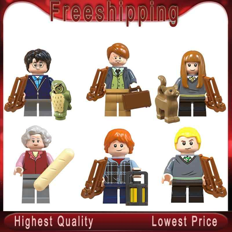 Harry Series Potters Moody Trolley Witch Ron Weasley Malfoy Lupin Susan Bones Building Gift Toys   WM6046