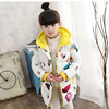 New Winter children Outerwear & Coats Girls Graffiti Parkas Hooded Baby Girl jacket Warm Butterfly print Children coat