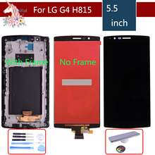 Single SIM ORIGINAL for LG G4 H815 Display LCD Touch Screen with Frame Replacment H810 H811 H815 Screen Display for LG G4 LCD цена