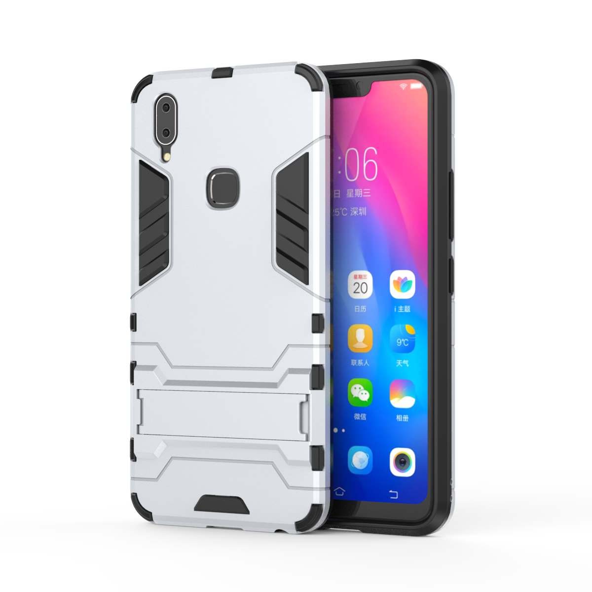 3D Shockproof Armor <font><b>Cases</b></font> For <font><b>ViVo</b></font> Y51 Y53 Y55 Y55L Y55S Y65 Y66 Y67 Y69 <font><b>Y71</b></font> Y73 Y75 Y75S Y79 Y83 Pro Y85 TPU Stand Phone Cover image