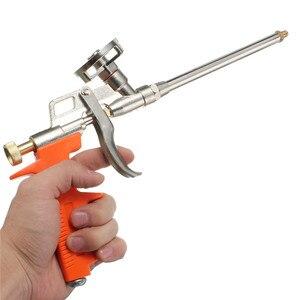 Image 3 - Черный желтый оранжевый профессиональный тяжелый пистолет из пенополиуретана, расширяющийся спрей, аппликатор длиной 28 см