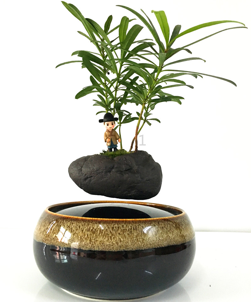 Fashion Garden Flower Pots Planters Magnetic Levitation