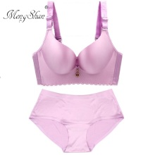 MengShan Seamless Large Bra Suit Big cup fat mm big size bra set Collect accessory milk Adjustment type plus ABCDE