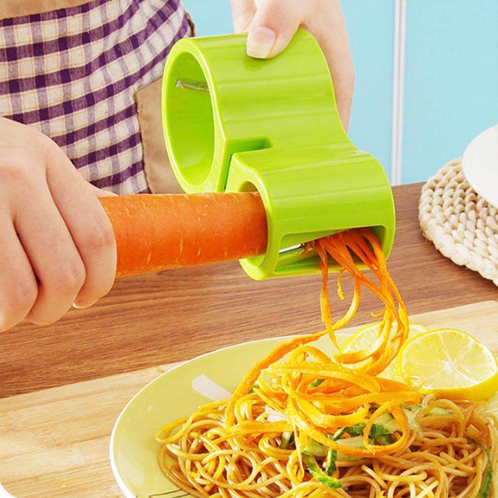 1 шт. многофункциональные овощные Слайсеры премиум-класса для лапши резак для цукини Макарон для спагетти двойная Терка точилка для ножей