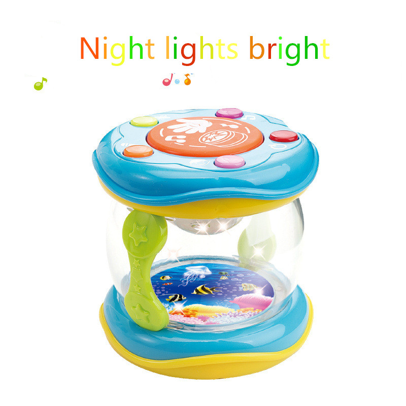 Children's educational toys new multifunction lighting effects  intelligent learning clap drum  music magic drum / Multifunction