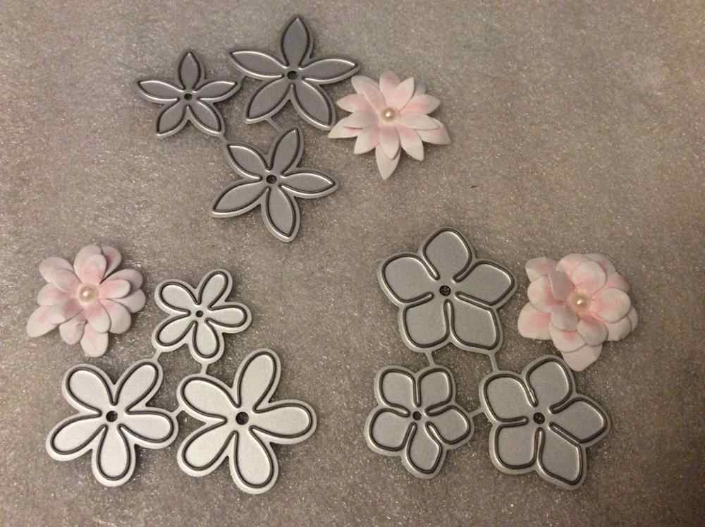 Flower Petal Craft Die Metal Cutting Dies 3D Stamps DIY Scrapbooking Greeting Cards Embroidery Photo Frame Decoration Supplies