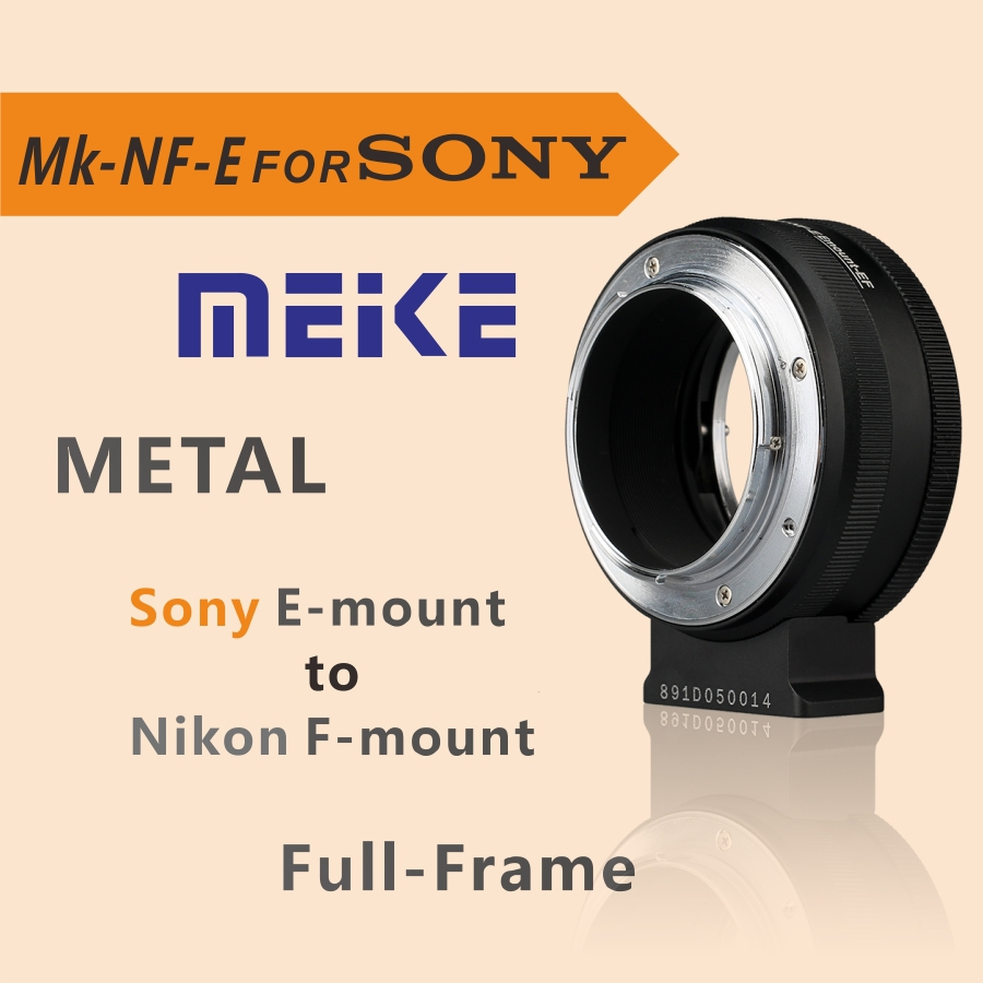Meike lens Adapter Ring MK-NF-E for Sony E-mount camera with Nikon F-mount lens meike mk d750 battery grip pack for nikon d750 dslr camera replacement mb d16 as en el15 battery