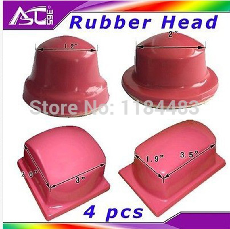 4 Pieces Pad Printing Rubber Head Silicone Pad Printing Material Pad Printing Rubber Head