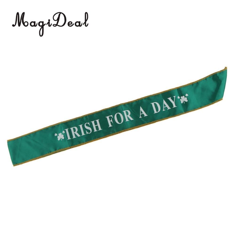 Ирландский для день трилистник атласная лента Святой Патрик день празднования вечернее изящное платье