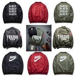 Autumn winter man and women cotton jacket slim short hip hop jackets coat yeezy yeezus pabio.jpg 250x250