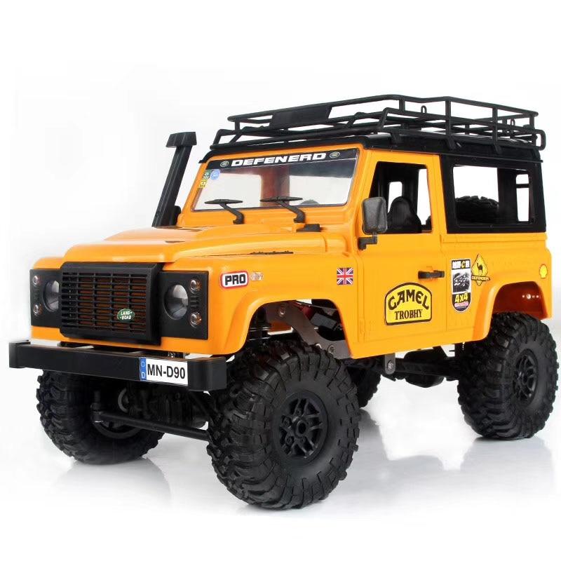 MN modèle D90 1:12 échelle RC voiture sur chenilles 2.4G quatre roues motrices rc voiture jouet assemblé véhicule complet MN-90K défenseur MN-91K picku