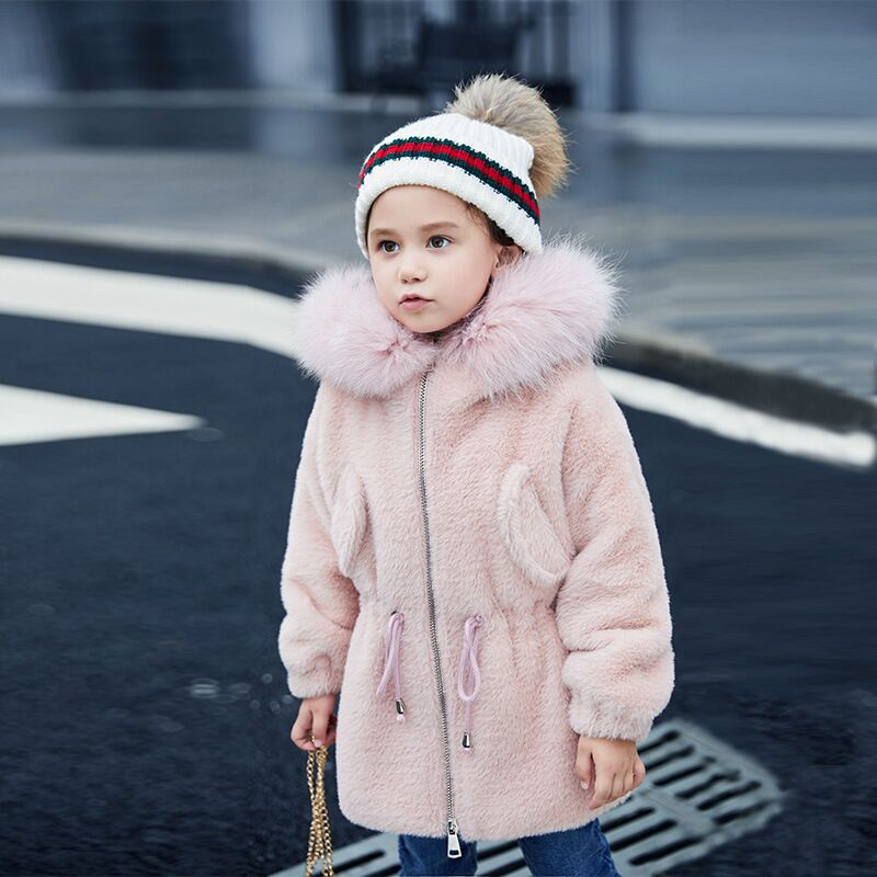 Christmas Baby Toddler Girl Winter Coat Cotton-padded Parka 2019 Winter Jacket Kids Warm Thick Fur Hooded Child snow Outerwear Christmas Baby Toddler Girl Winter Coat Cotton-padded Parka 2019 Winter Jacket Kids Warm Thick Fur Hooded Child snow Outerwear