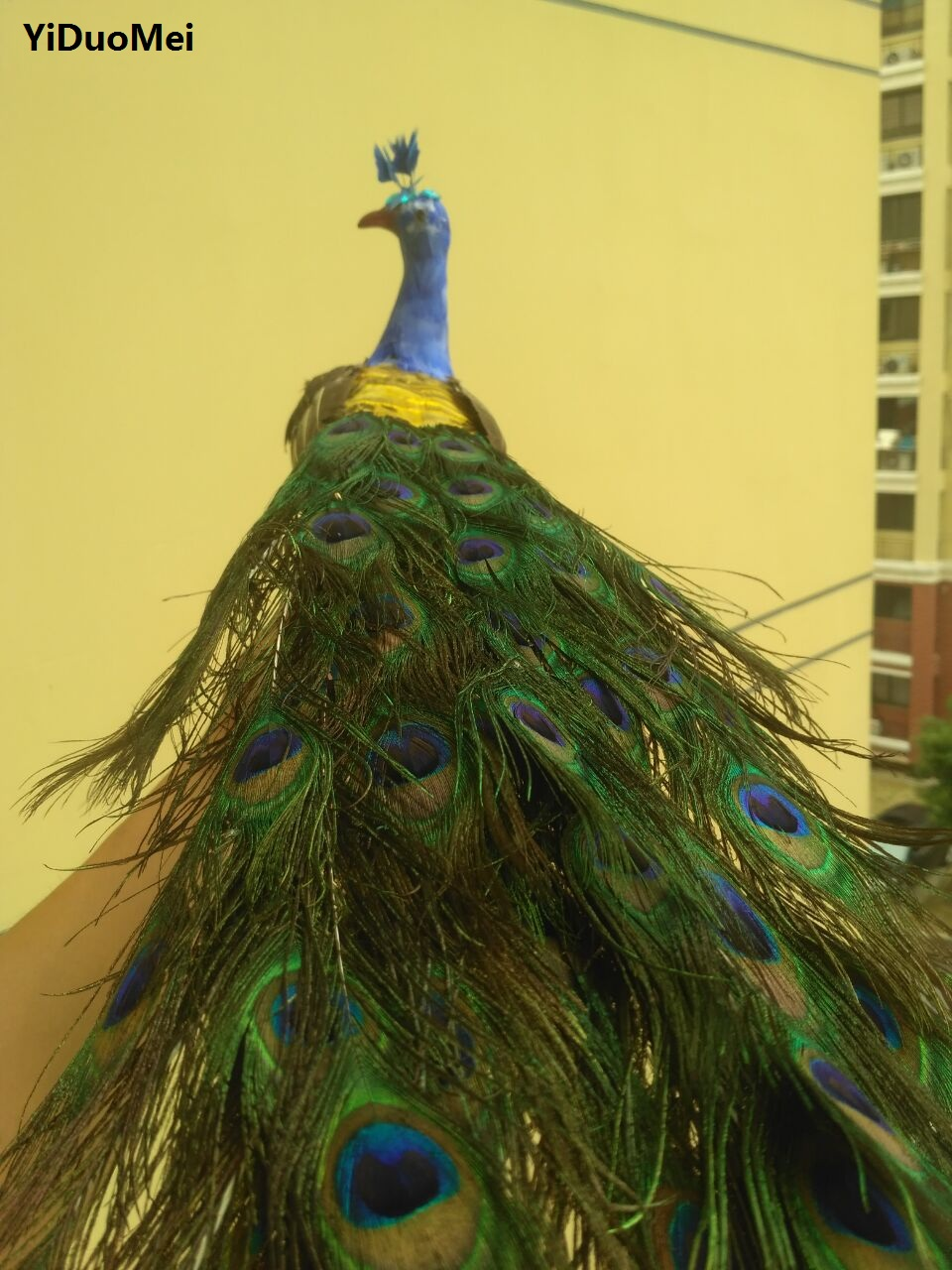 artificial peacock large 80cm beautiful feathers peacock ...