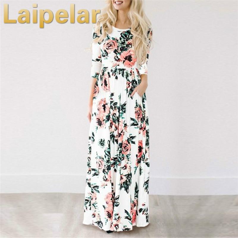 2018 Summer Long Dress Floral Print Boho Beach Dress Tunic Maxi Dress Women Evening Party Dress Sundress Vestidos de festa XXXL