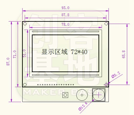 LCD12864 SIZE