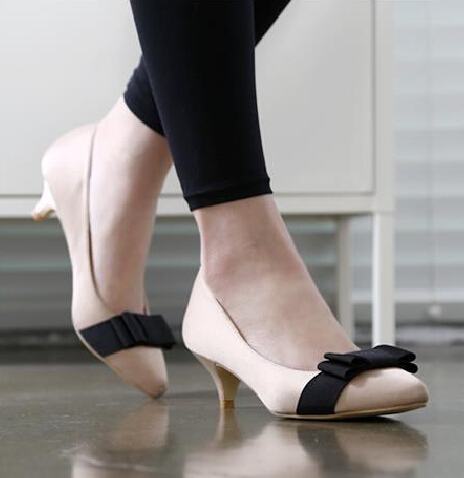 1 Inch Kitten Heel Pumps