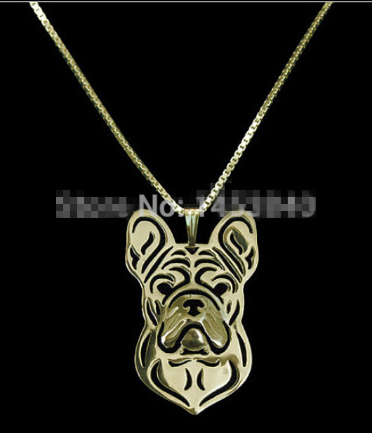Newest fashion Handmade Unique French Bulldog Necklace, Frenchie Necklace, Dog Pendant Jewelry, Crazy Dog Lady and men Jewelry