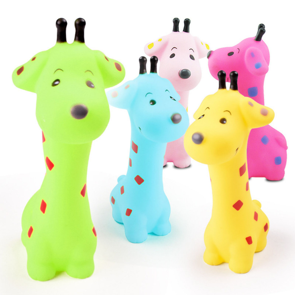 Bath Toy Animals Swimming Water Toys Colorful Soft Floating Rubber Squeeze Sound Squeaky Bathing Baby Bath Classic Cute Toys Kid