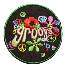 Custom Embroidered patch Name Tag Dog Military flowerss MC Biker Vest Club iron on badge Customized logo design service