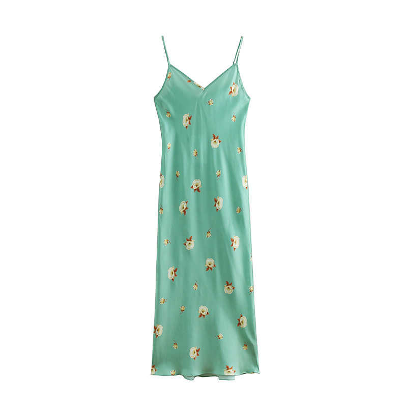 EIJOQAN Casual Summer New Women 39 s wear Long Fresh Suspended One pace Dresses Flower Printing sexy Sleeveless slim V Neck A220 in Dresses from Women 39 s Clothing